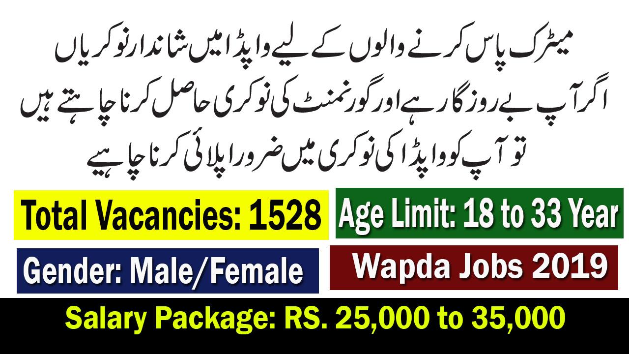 WAPDA Job July 2019 by NTS |1528+ Vacancies - IESCO Jobs 2019