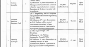 AJK Power Development Organization (PDO) Jobs Muzaffarabad 2020