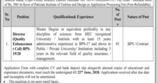 Pakistan Institution Of Fashion And Design Jobs 2020