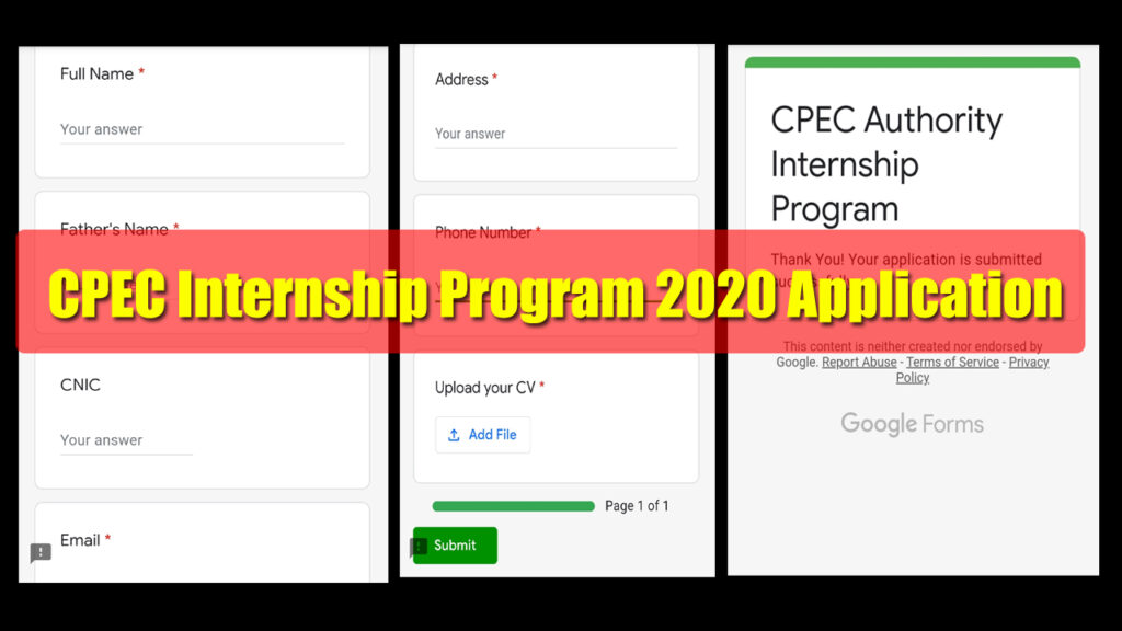 CPEC Internship Program 2020