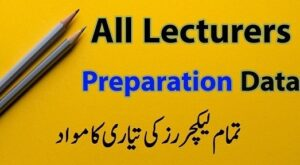 PPSC Lecturer jobs Past Papers