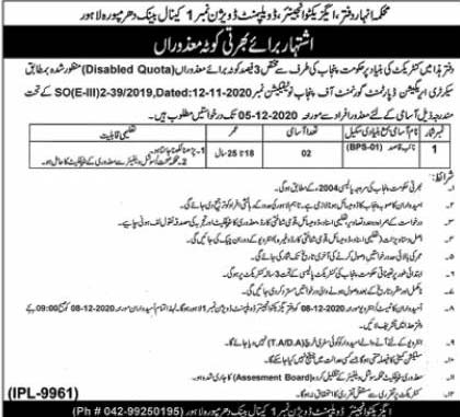 Naib Qasid Jobs 2020 in Lahore