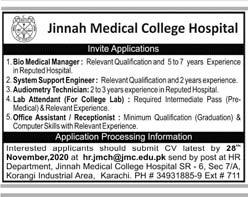 JMCH Karachi Jobs 2020