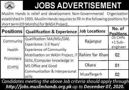 Muslim Hands Jobs 2020