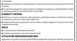 Pakistan International Airlines Jobs 2020