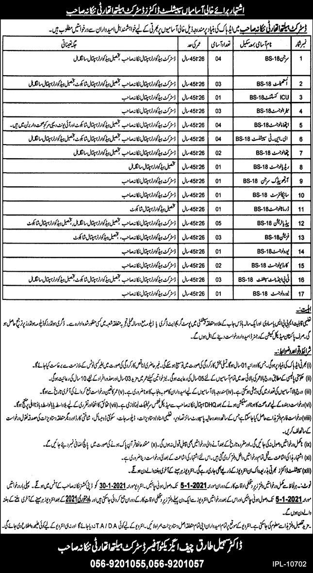 District Health Authority Nankana Sahib Jobs 2020