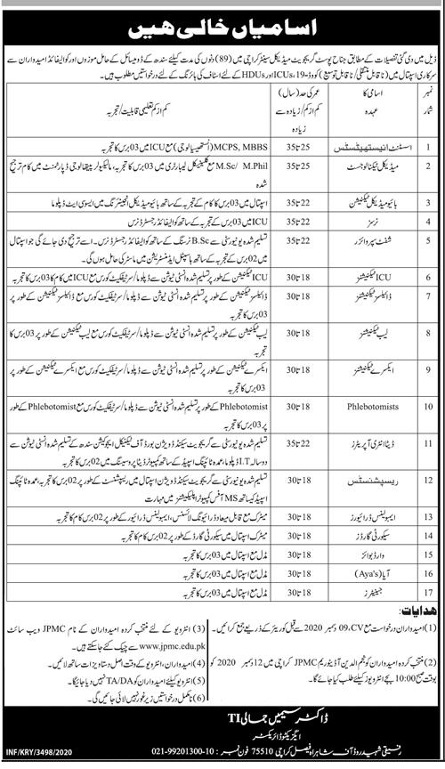 JPMC Karachi Jobs 2020