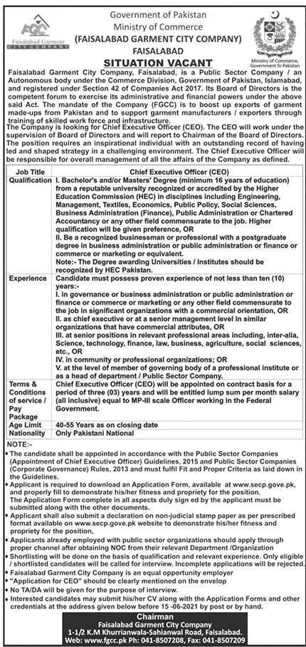 Ministry Of Commerce Jobs June 2021
